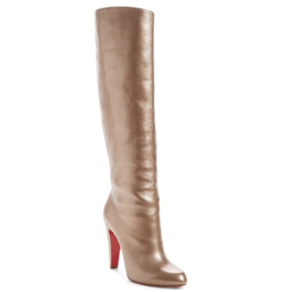 pretty nice 13636 64233 Christian Louboutin Knee-High Golden Heeled Bootie NWT